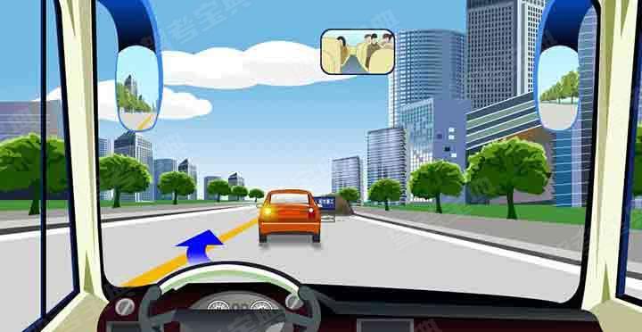 驾驶机动车在这种情况下可以越过中心实线超车。