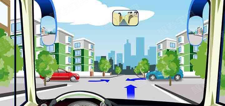 驾驶机动车在这种情况的路口哪辆车优先通行?