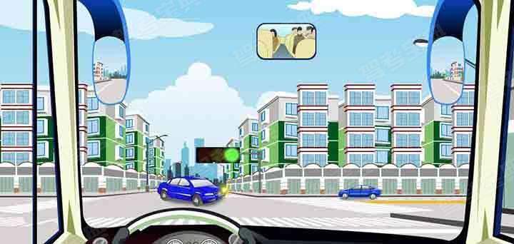 驾驶机动车在路口直行遇到这种情况怎么办?