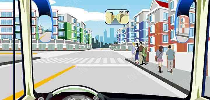 驾驶机动车遇到这种情况的人行横道线可以加速通过。