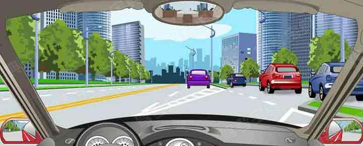 在这种情况下从主路进入辅路怎样汇入车流?