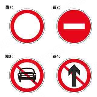 以下交通标志中,表示禁止一切车辆和行人通行的是?