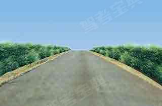 车辆行驶至如图所示坡道时,教练员应提示学员___。