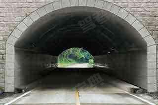 如图所示,车辆行驶中遇隧道时,教练员应提示学员___。