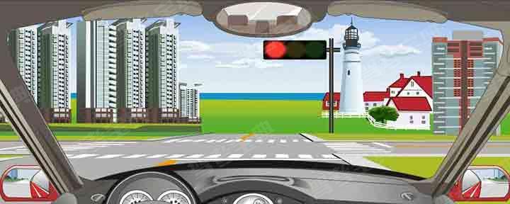 在路口这个位置时可以加速通过路口。