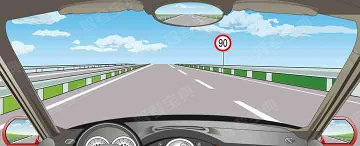 在这条车道行驶的最高车速是多少?