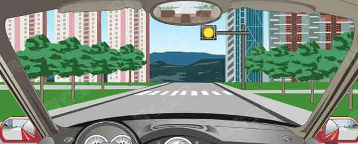 驾驶机动车遇到这种信号灯不断闪烁时怎样行驶?