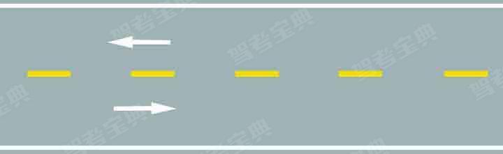 路中心黄色虚线的含义是分隔对向交通流,在保证安全的前提下,可越线超车或转弯。