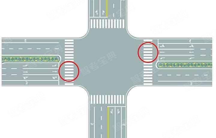 图中圈内的路面标记是什么标线 驾考宝典
