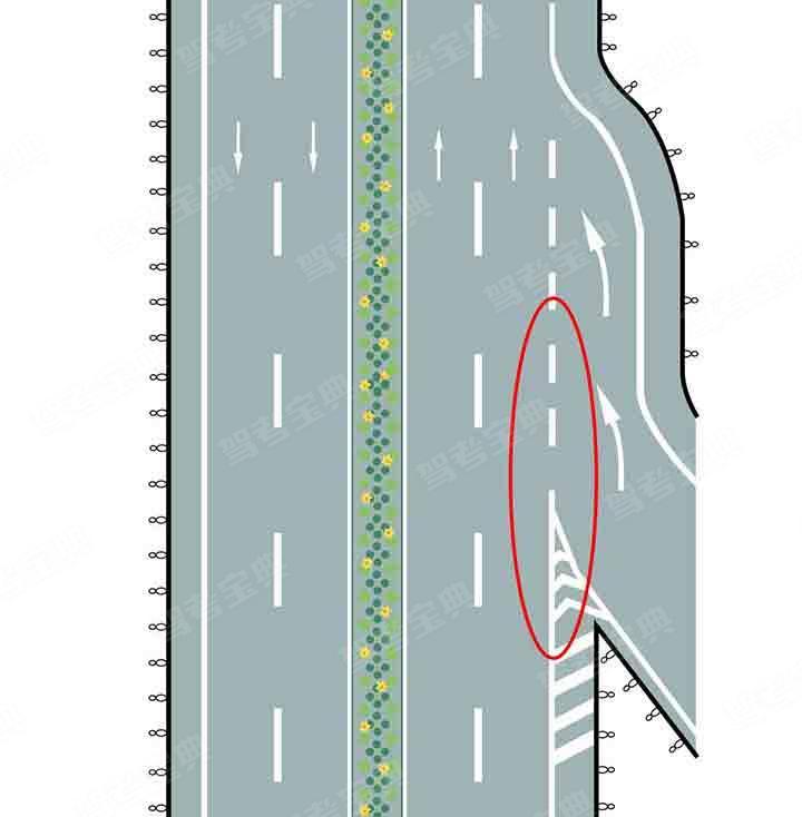 路面上白色虚线和三角地带标线组成的是什么标线?