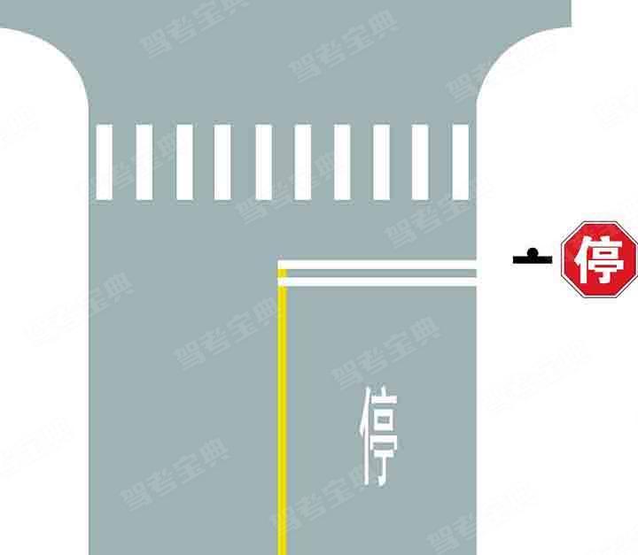 路口最前端的双白实线是什么含义?