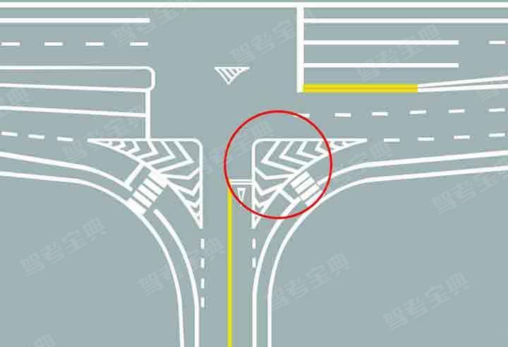 图中圈内三角填充区域是什么标线?