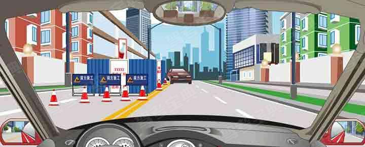 驾驶机动车遇到这种情况不要减速。
