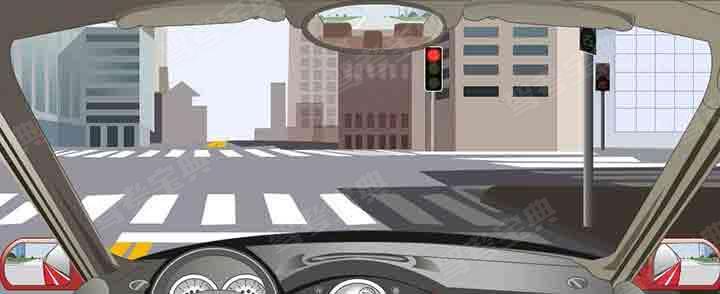 驾驶机动车在这种信号灯亮的路口,可以右转弯。